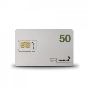 Tarjeta SIM prepago Inmarsat Bgan 50